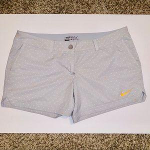 Nike Golf Dri-Fit Light Gray Shorts Size 14